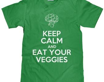 Keep Calm and Eat Your Veggies - Vegetarian T Shirt - Item 1771