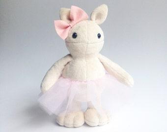 Monster plush ballerina toy- ballet doll - stuffed toy - plush toy - Plushie - Softie - Soft sculpture - Stuffed animal -  Nursery decor