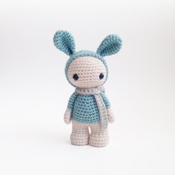 Amigurumi Cute Rabbit : Plush bunny toy Amigurumi rabbit stuffed animal cute