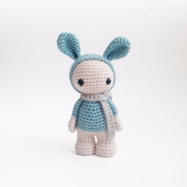 Amigurumi Stuffed Animals : Plush bunny toy Amigurumi rabbit stuffed animal cute