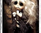 Gothic Art Doll OOAK Halloween - Plague Doctor - Apocalypse - Creepy Cute