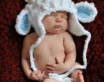 Crochet Baby Lamb Hat