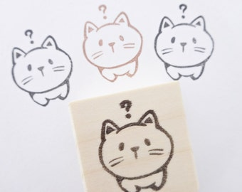 Cat rubber stamp for cat geek, Card decoration stamp, Japanese stationery