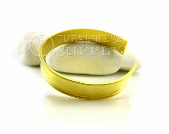 Brass Cuff Bracelet, Adjustable Matte 22K Gold Plated Blank Cuff Bracelet, Turkish Bracelet Jewelry