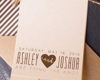 Booklet style modern wedding invitation, printable wedding invitation, rustic wedding invitation
