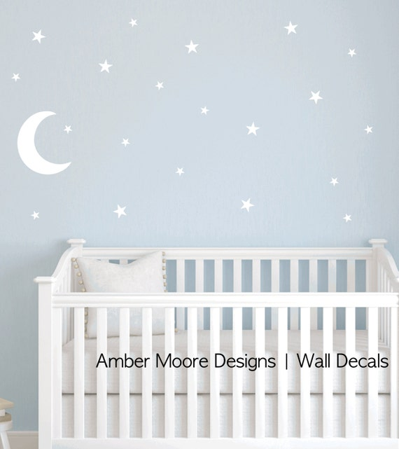 moon and stars decal nursery star wall decal children 39 s star decal