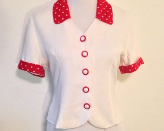 80's Red and White Shirt