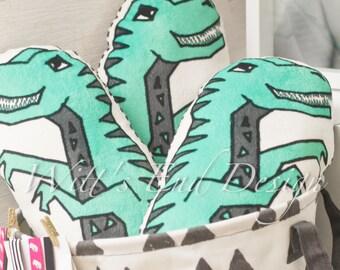 Plush T-Rex Pillow-Dinosaur Pillow by Andrea Lauren-stuffed toy-kids pillow-dinosaur nursery, dinosaur decor, dinosaur theme-stuffed toy