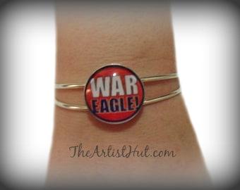 WAR EAGLE Auburn bangle bracelet