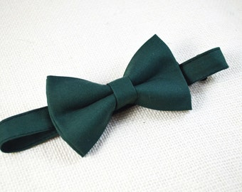 B110 Hunter Green  bow tie For  baby/Toddler/Teen/Adult/with Adjust strap/Clip on
