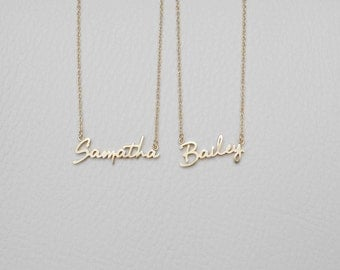 Dainty Name Necklace - Custom Name Necklace - Personalized Name Jewelry - Minimalist Necklace - #PN02F3
