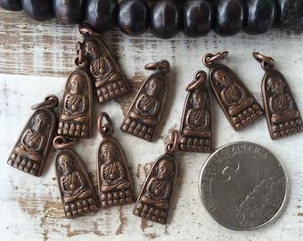 Small Thai Buddha Amulet Pendant / Tiny Buddha Pendant / Metal Amulet / Thai Amulet / Amulet / Buddha Charm