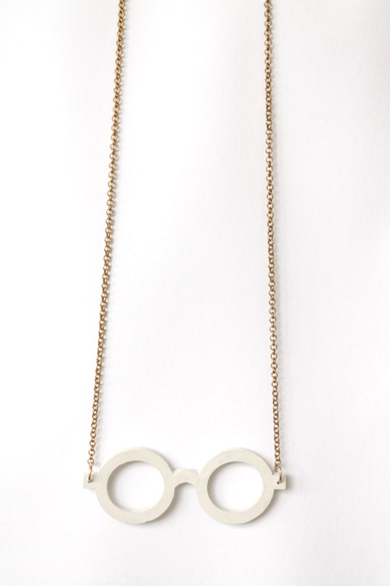 Concrete eyeglass necklace
