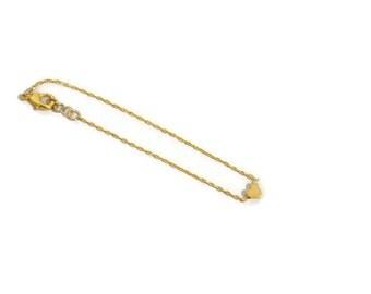 Tiny Heart Charm Bracelet