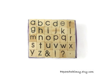 Mini Alphabet Rubber Stamp Set | Letter Stamp | Art Supplies | Rubber Stamp | Craft Stamp | Letter Stamps | Alphabet Stamps | Mini Letter