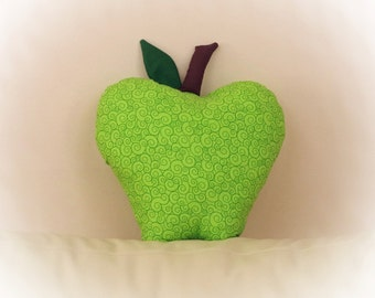 Apple Shaped Pillow, Apple Pillow,Green Apple, Toy Pillow, 3D Pillow,  Beach House Decor