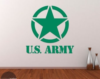 United States US Army Military Star Vinyl Wall Decal Sticker