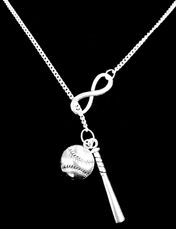 Baseball Bat Necklace With Heart
