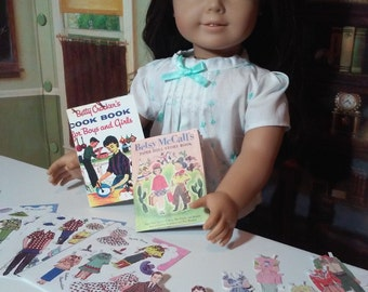 """Printable 1950s Books for 1/3 BJD and 18"""" Dolls like American Girl Accessories Historical School Supplies"""
