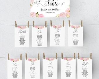 wedding seating chart poster template wedding table plan