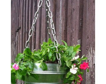 Hanging Planter- Galvanized
