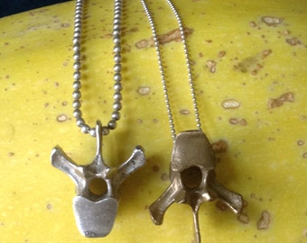 Bronze vertebrae necklace