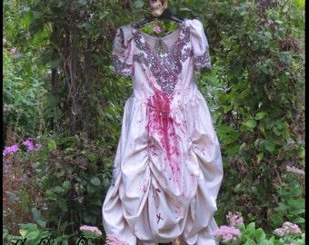 Zombie Bride BLOODY BRIDE Corpse Bride of Frankenstein Halloween Bride Tim Burton Wedding Size 14 Corpse Bride Dress by SweetDarknessDesigns