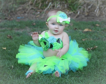 Adorable Pebbles Tutu Dress Baby Costume Tutu Set 3 Piece for Baby Girl 6-18 Months First Birthday First Halloween Newborn