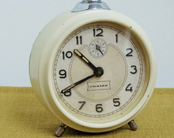 Cute working vintage alarm clock, Rosier, Germany