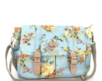 laptop bag,diaper bag,baby shower,college student gift,school bag, women canvas bag,monogram messenger bag,monogram bag, floral diaper bag,