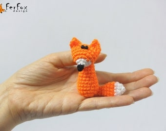 Fox Brooch, fox pin, crochet pin, woodland brooch, children jewelry, funny brooch, animal pin