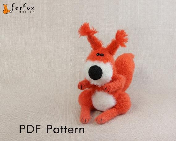 Crochet squirrel PATTERN Amigurumi squirrel pattern Woodland