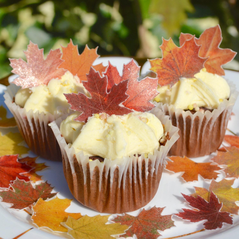 Edible Maple MINI Autumn Fall Leaves x 60 Wedding Cake