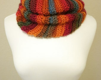 Crochet Cowl in Shades of Fall