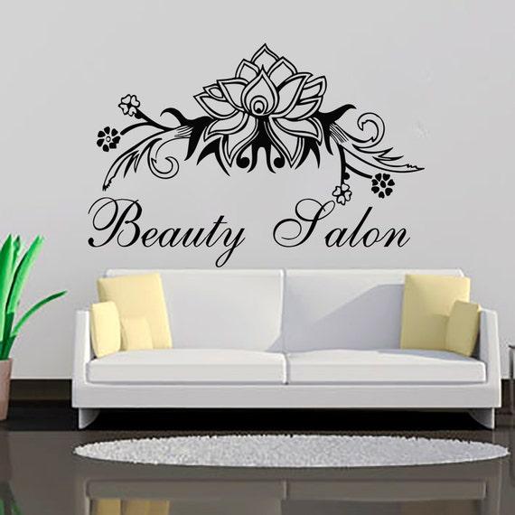 Wall Decal Beauty Salon Decals Vinyl Sticker Flowers By