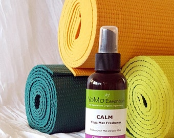 CALM Yoga Mat Freshener   Organic, Natural Yoga Mat Spray  Freshen your Mat and your Mind!