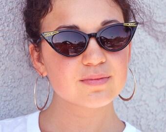 Embellished Cat Eye Sunglasses, Vintage sunglasses, Retro Sunglasses, Vintage Cat Eye