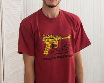 Japanese Shirt – Ray Gun T Shirt – Blaster Phaser Zap Laser Gun – Japan Retro Kawaii Vintage Hand Screen Printed T Shirt
