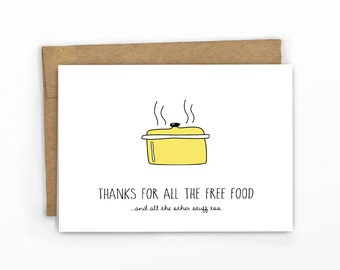 Funny Father's Day Card | Graduation Card ~ Thanks for the Free Food...and Everything Else!