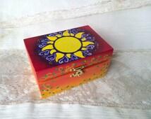Tangled Sun Rapunzel Disney Tangled jewelry box, Small Tangled inspired Sun Box Tangled birthday jewelry storage