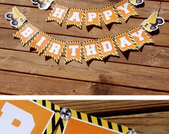 Construction Birthday Banner, Construction Banner, Construction Birthday Party, Decoration, Under Construction, Dump Truck, Birthday Banner