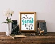 Digital Print - How Great Thou Art Digital Print - Christian Digital Print - Printable Digital Prints - Wall Decor