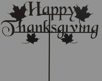 Metal Happy Thanksgiving Yard Sign