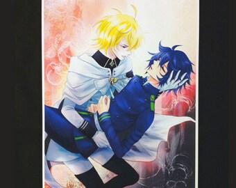 Owari no Seraph Yuuichirou Hyakuya and Mikaela Hyakuya Anime Manga Premium A5/A4 Print