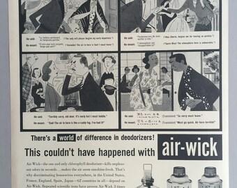 1958 Air Wick Deodorizer Print Ad