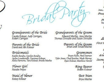 Wedding Ceremony Program - Customizable Digital File