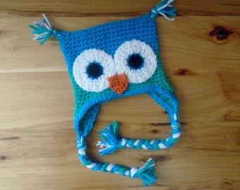 Owl Hat, Crochet Animal Hat, Crochet Owl Hat, Baby Owl Hat, Custom Crochet Hat, Baby Shower Gift, Babies' Winter Hat, Boy Hat, Girl Hat, Owl