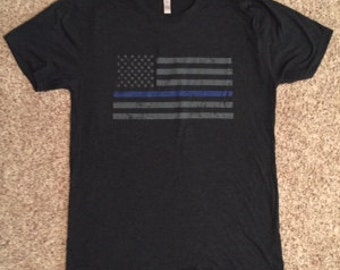 Men's Triblend Thin Blue Line Soft Tee