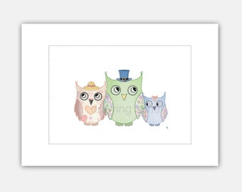 OWLS - FOREST made by Drawing Zone