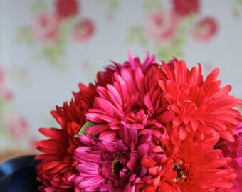 BIG SALE* Before 32pound NOW 25pound Bridal Bouquet, Artificial Bouquet ,Wedding, Gerbera , Bouquet with Groom 's Boutonniere #No7_001R